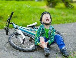 Child Crying fell off of bike