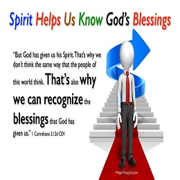 Holy Spirit helps in prayer