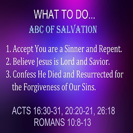The ABC's of Salvation